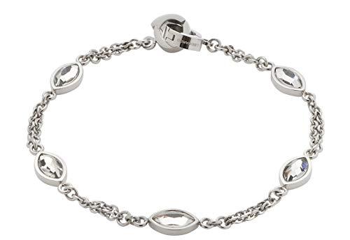 Jewels by Leonardo DARLIN\'S Damen-Armband Leonita, Edelstahl mit facettierten Glas-Blättchen, Clip & Mix System, Länge 190 mm, 016839