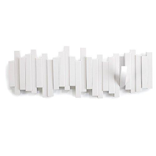 Umbra 318211-660 Perchero decorativo de pared Sticks, Blanco