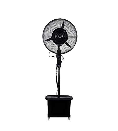 Industrielles Spray-Boden-Ventilator-Wasser-Nebel-Befeuchtungs-Kühlwasser plus Zerstäubung bewegliches automatisches auf dem Wasser-anhebenden Windgeschwindigkeits-Schwarz des Ventilator-350W drei
