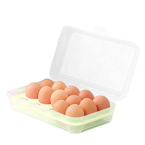 AllExtreme Egg Tray for Refrigerator,15 Eggs Tray Holder