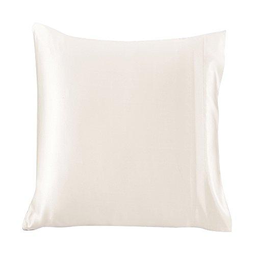 LilySilk Luxus Seide Kopfkissenbezug Kissenbezug mit Hotelverschluss Kissenhülle aus 100% Maulbeerseide Kissen 1 Stück 19 Momme in Schachtelverpackung Elfenbein 65x65cm Verpackung MEHRWEG -