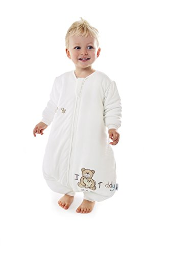 Sacco nanna in bambù slumbersac invernale con piedini circa 3.5 tog - i love teddy - 12-18 mesi
