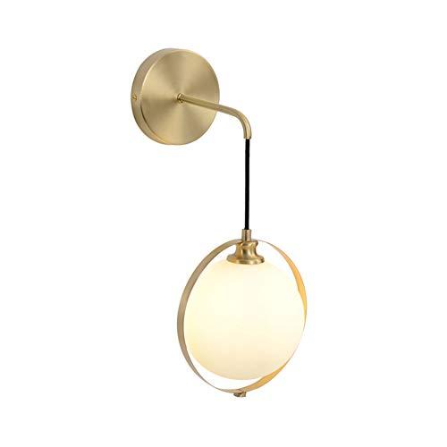 @Y.T Wandleuchte Kreative Kupfer Licht Schlafzimmer Nacht Wohnzimmer Gang 5 watt Weißes Licht und Warmes Licht Lampe,whitelight - Kupfer-nacht-lichter
