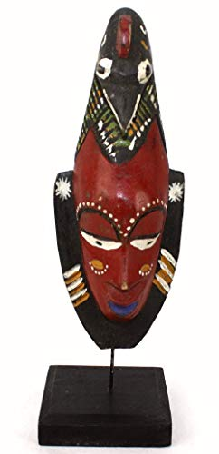 afriqueartdecoration.com Masque Passport Ancien sur socle-7824