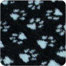 Vetfleece-Non-Slip-With-Paw-Design-Roll-Pro-Whelping-Fleece-Dog-Cat-Animal-Puppy-Kitten-Bedding-1M-X-075M-40-X-30-Charcoal-Light-Blue-Paws
