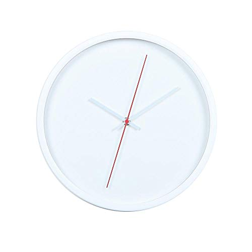 GFF Blanco Silenciosa del reloj de pared del reloj de pared Con decorativo de Cristal l \\u0026 iacute; quido multifunci \\u0026 oacute; n reloj de PVC (12 pulgadas)