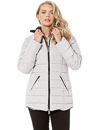 1c9cdac1bdd0 Roman Originals Women Short Padded Coat - Ladies Autumn Winter Casual  Everyday with Faux Fur Collar Trim Long…
