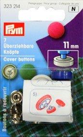 Überziehbare Knöpfe Messing silberfarbig mit Werkzeug 11 15 19 23 mm, Größe:18'' 11mm