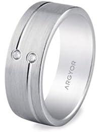 Argyor - Alliance Homme Argent 925/1000 Rhodié – Oxyde de zirconium - 7 mm – T 58