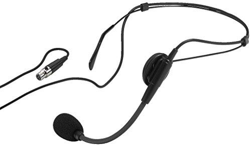 MONACOR HSE-80 Elektret-Kopfbügelmikrofon schwarz - 2 Stage Line