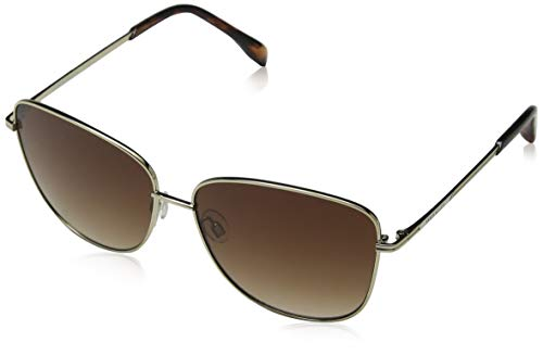KAREN MILLEN Damen KM Collection Sonnenbrille, Braun (Torf Gold), 58.0