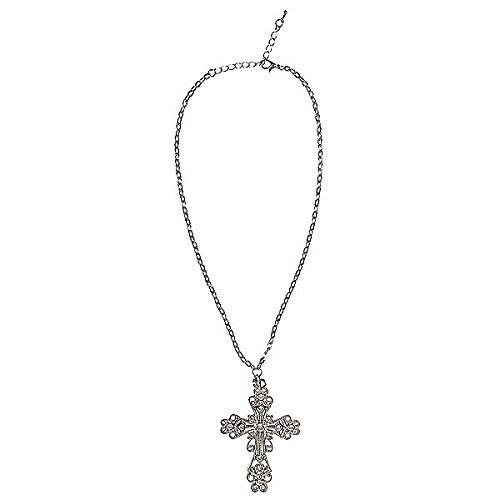 Anzug Nonne (Kette mit gotischem Kreuz für Nonnen oder Halloween)