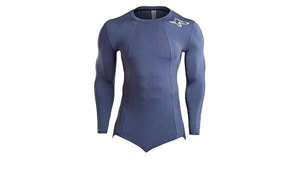 YiJee Homme S/échage Rapide Fitness Veste Compression Manches Longues Jogging Capuche T-Shirt
