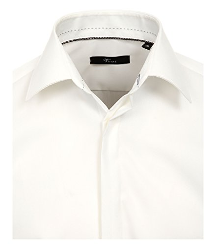 Michaelax-Fashion-Trade - Chemise casual - Uni - Col Chemise Classique - Manches Longues - Homme Creme (002)