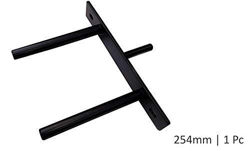 B&Z - Soportes para Estante de Placa, Muy Resistentes, Ocultos/flotantes, 254mm (10...
