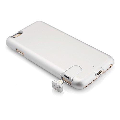 Mbuynow iPhone 6 / 6s Power Case Ultra Slim Ricaricabile - Powerbank / Batteria Esterna 1500mAh Integrata nella Cover Protettiva Ultra Sottile & Elegante per iPhone 6 / 6s (Argento) Argento