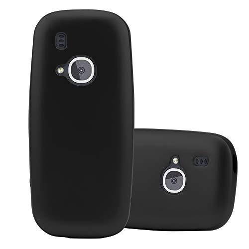 Cadorabo Custodia per Nokia 3310 in Nero Metallico - Morbida Cover Protettiva Sottile di Silicone TPU con Bordo Protezione - Ultra Slim Case Antiurto Gel Back Bumper Guscio