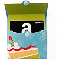 Amazon.co.uk Gift Card for Custom Amount in a Birthday Reveal - FREE One-Day Delivery