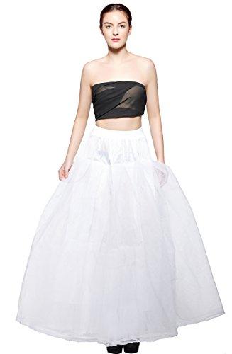 atopdress - Robe - Jupon - Femme blanc cassé ecru Taille Unique ALL NET PETTICOAT -XL