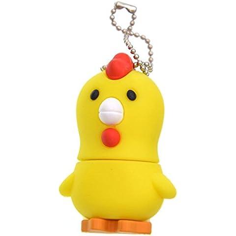 FEBNISCTE 8GB USB3.0 Pendrive Amarillo del Pollo Forma Almacenamiento Externo