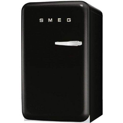 Smeg FAB10LNE Standkühlschrank mit Gefrierfach / Linksanschlag / Kühlteil 101 Liter / Gefrierfach**** 13 Liter / schwarz