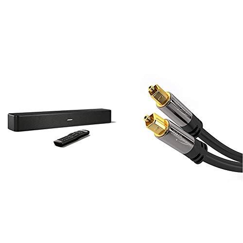 Bose ® Solo 5 TV Sound System schwarz & KabelDirekt - 2m Optisches Digitalkabel TOSLINK - PRO Series