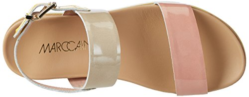 MARC CAIN Gb Sg.10 L67, Sandales  Bout ouvert femme Rot (Candy Pink)