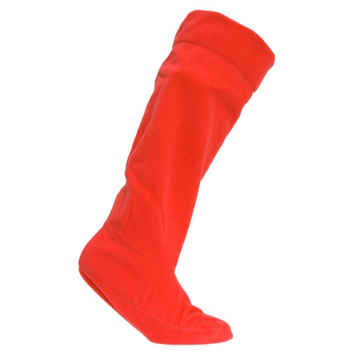 Damen Gummistiefel-Socken, Fleece (EUR 39-42) (Rot)