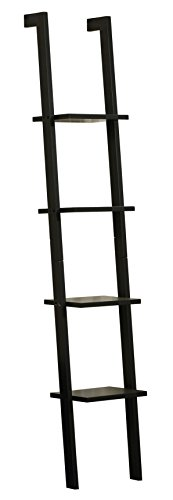 Orolay Moderna Estanterias librerias Estantería de Pared con 4 estantes (Negro)