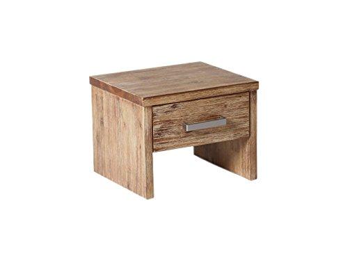 Woodkings® Nachttisch Albury Akazie gebürstet Schlafzimmer Massivholz Beistelltisch Nachtkommode Design massive Naturmöbel Echtholzmöbel günstig