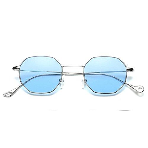 OverDose OverDose Unisex Sommer Frauen Männer Moderne Modische Spiegel Polarisierte Katzenauge Metallrahmen Sonnenbrille Brille Damensonnenbrille Herrensonnenbrille (B)