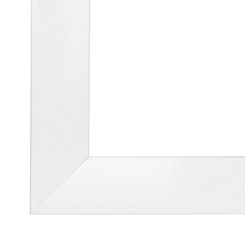 Bilderrahmen OLIMP 18x25 oder 25x18 cm in WEISS HOCHGLANZ mit normal Kunstglas und MDF Rückwand, 35 mm breite MDF-Leiste mit Dekor Folienummantelung (18-poster Apollo)