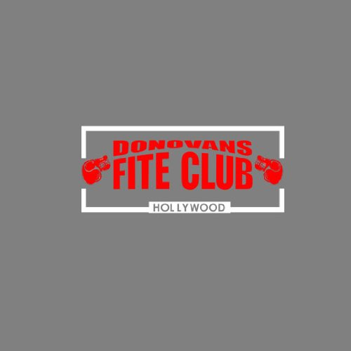 Donovans Fite Club - Herren Langarm T-Shirt Dunkelblau