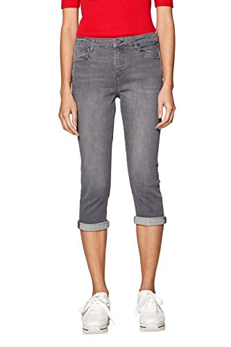 edc by ESPRIT Damen 039CC1B033 Straight Jeans Grau (Grey Light Wash 923) W32 (Herstellergröße: 32)
