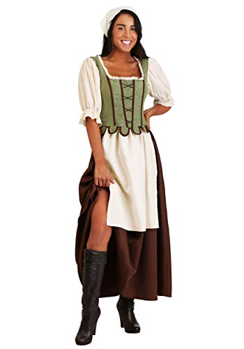 Bar Kostüm Wench - Medieval Pub Wench Fancy Dress Costume Women's Small