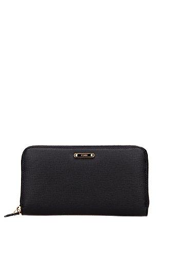 fendi-portefeuille-porte-monnaie-femme-en-cuir-deux-plis-elite-noir