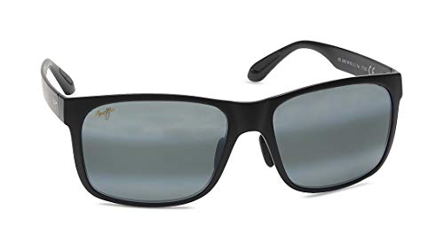 Maui Jim Maui Hookipa Reader HT807-1115 Mens and Womens Sunglasses Smoke Grey, Matte Black, 59