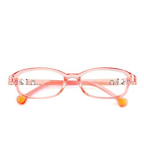 Yangjing-hl Kinderbrillengestell mit Kinderfarbpupillen leuchten mit Brillengestell durch den Puderrahmen