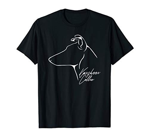 Kurzhaar Collie im Profil Hund Geschenk Hunde T-Shirt -