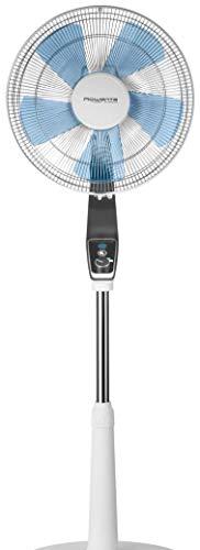 Rowenta Turbo Silence Extreme VU5640F0 Ventilador de pie con 4 velocidades y de 30 cm, posición nocturna extra silenciosa, oscilación Automática, orientación y altura ajustable (Reacondicionado)