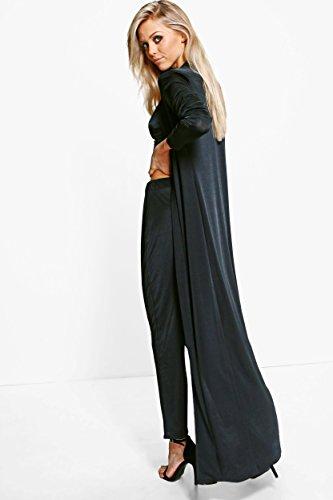 Noir Femmes hilary ensemble assorti pantalon et manteau ample près du corps habillé Noir