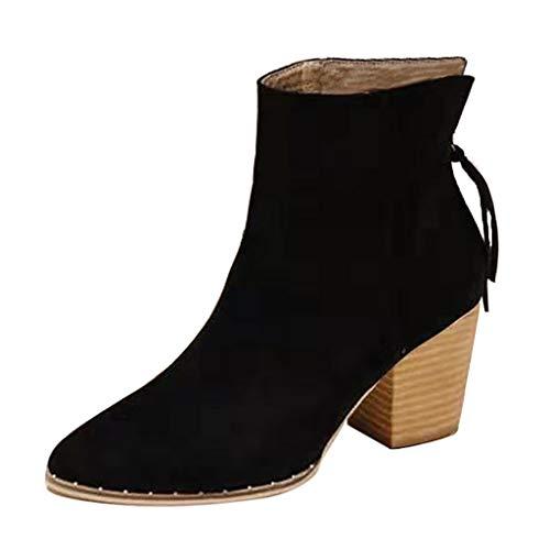 Watopi Damen Schuhe Teenager-Mädchen Chelsea Boots beschuht AR und Weiseknöchel einzelne Schuh Kurze Aufladungen Winterstiefel
