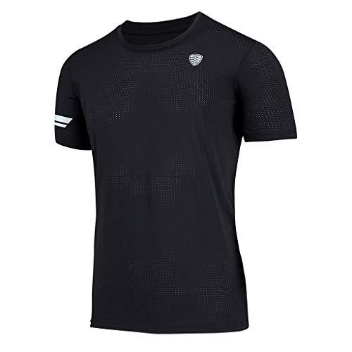 Eaylis Herren T-Shirt Tops Sport Fitness Fest Trocknende Kleidung Casual Top T-Shirt Einfarbig Kurzarm
