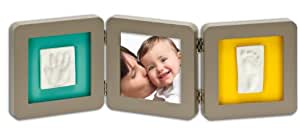 Baby Art 34120097 - Double Print Frame, Bilderrahmen für Hand- und Fußabdruck, taupe