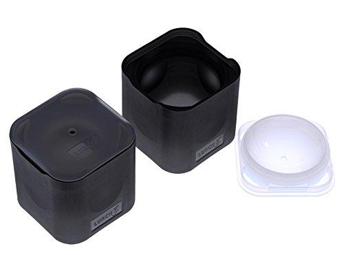 Lurch Ice Former Premium Eisbereiter aus Silikon 2er Set für große 6cm Eiskugeln, Schwarz, 6.5 x 15.5 x 13 cm