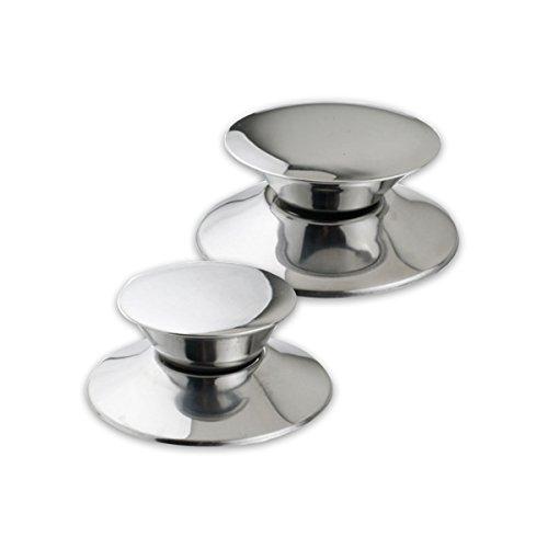 Ouborui 2pcs/set in acciaio inox di pomello e coperchio per pentole e padelle pentole