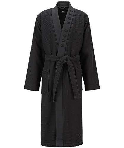 Hugo Boss Herren Bademantel Waffle Kimono, Schwarz (Black 001), X-Large