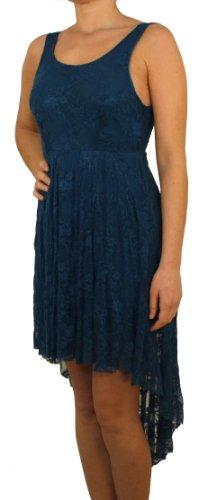 9696 PERANO Mesdames robe dentelle, viscose, brun, bleu, rouge, blanc, noir, taille unique (S, M, L), nouveau! bleu turquoise