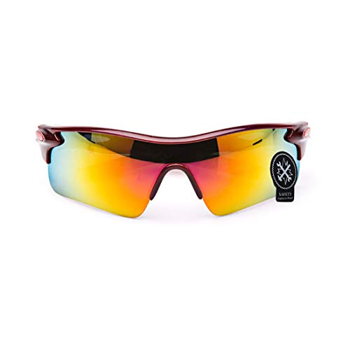 LBWNB Sport-Sonnenbrille-Outdoor Men es Women es Cycling Sonnenbrille Reflective PC Explosion-Proof Sonnenbrille