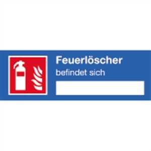 Aufkleber Hinweisschild für einen Feuerlöscher 4x12 cm
